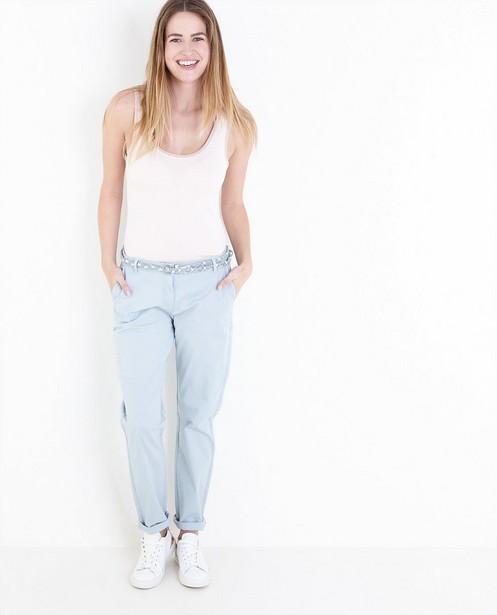 Pantalons - Chino met gevlochten riem
