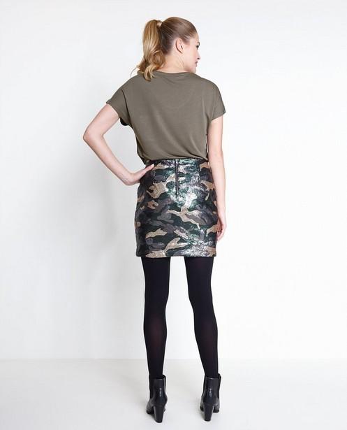 Rokken - ZWM - Rok in camouflage van pailletten