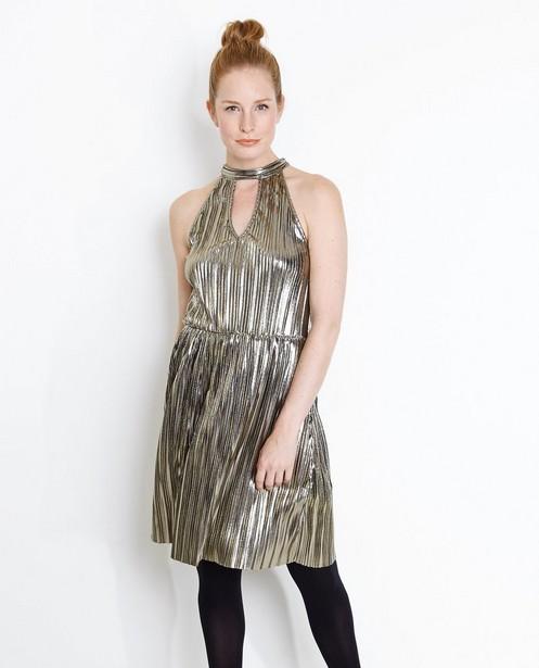 Metallic plissé jurk - null - Sora