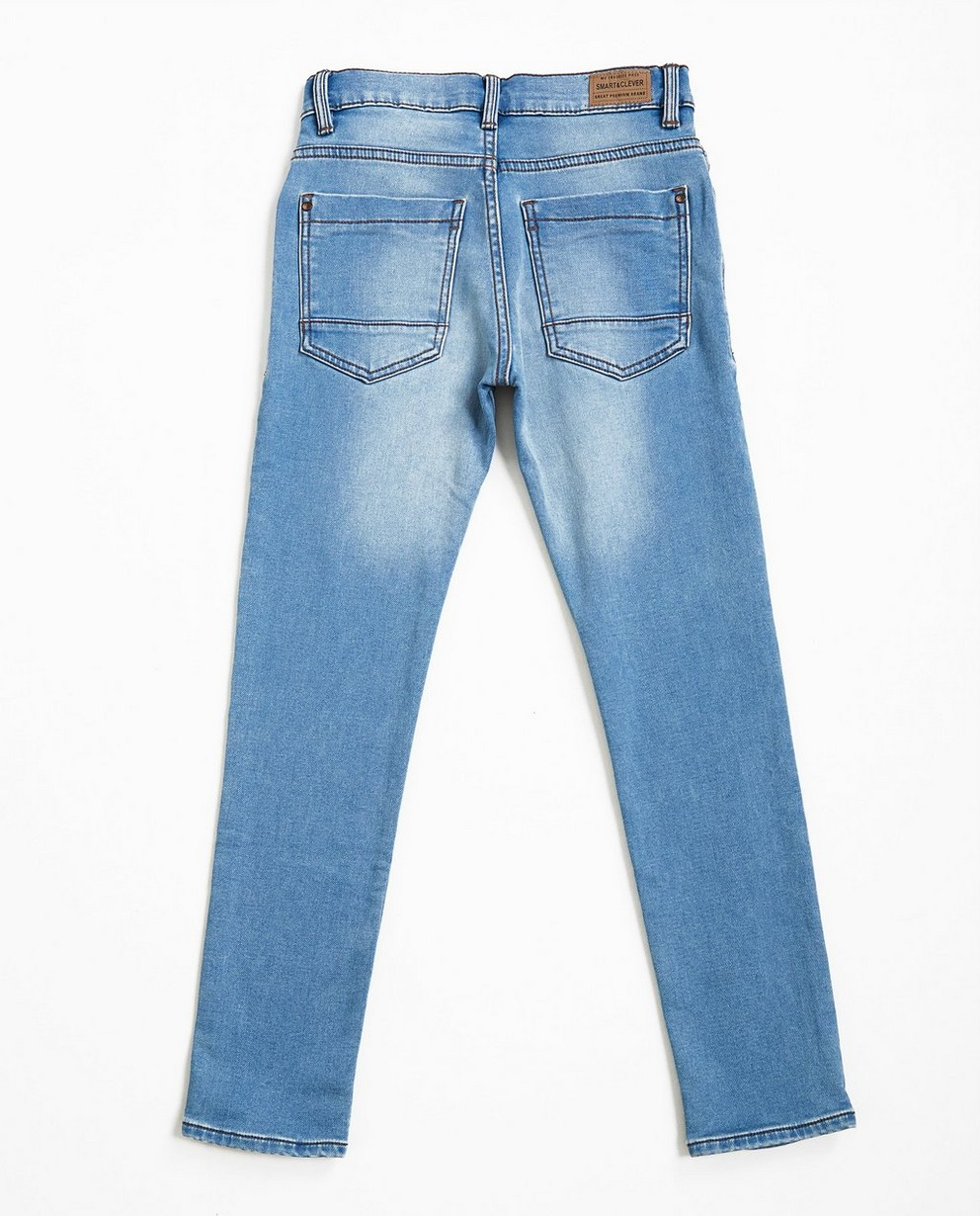 Jeans - light turquise - Lichtblauwe slim jeans