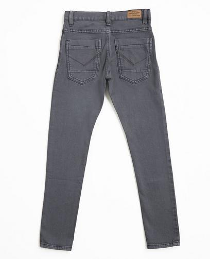 Grijze skinny jeans, sweat denim