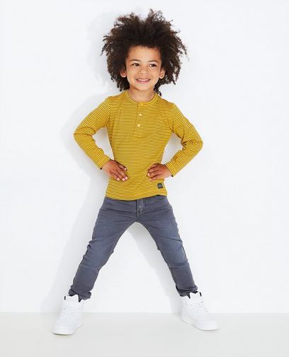 Graue Skinny-Jeans aus Sweat-Denim JOEY