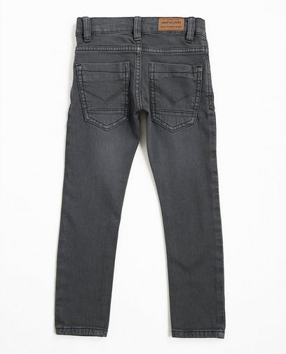 Graue Skinny-Jeans aus Sweat-Denim