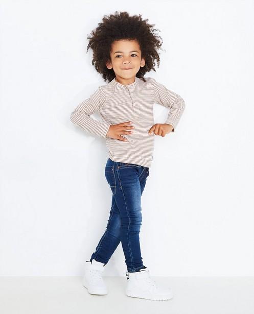 Dunkelblaue Skinny-Jeans, Sweat-Denim - null - JBC