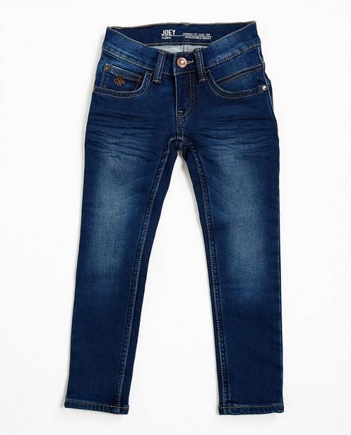 Jeans - Jeans skinny bleu marine, sweat denim