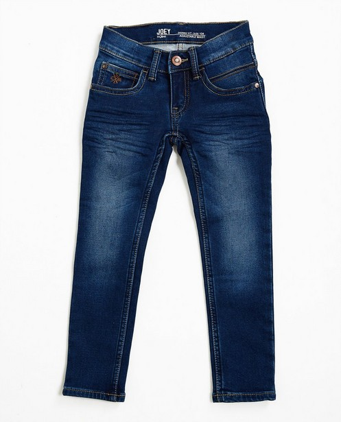 Jeans - Dunkelblaue Skinny-Jeans, Sweat-Denim