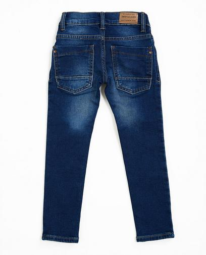 Dunkelblaue Skinny-Jeans, Sweat-Denim