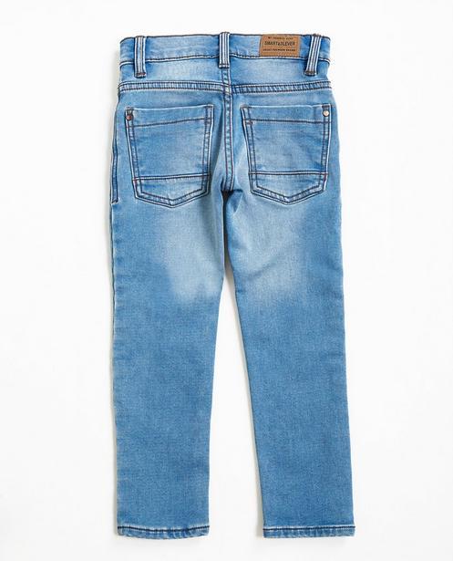 Jeans - Helltürkis - Hellblaue Slim-Jeans, Sweat-Denim