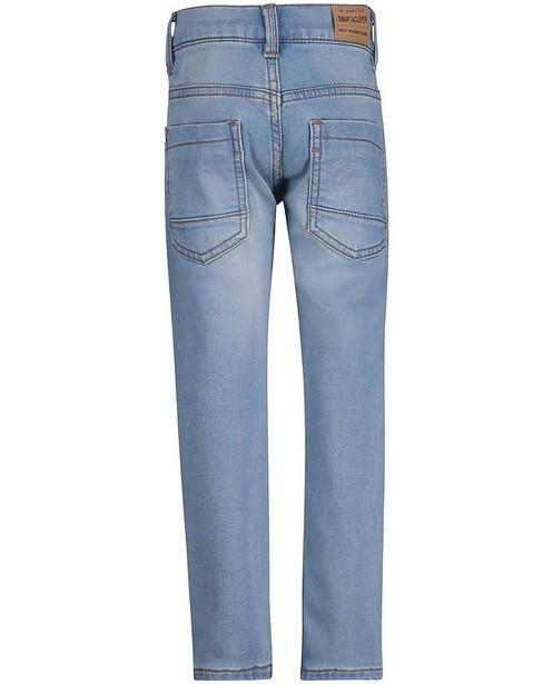 Jeans - Hellblaue Slim-Jeans, Sweat-Denim