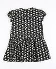Zwarte jurk met poedelprint