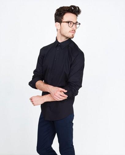 Zwart effen hemd