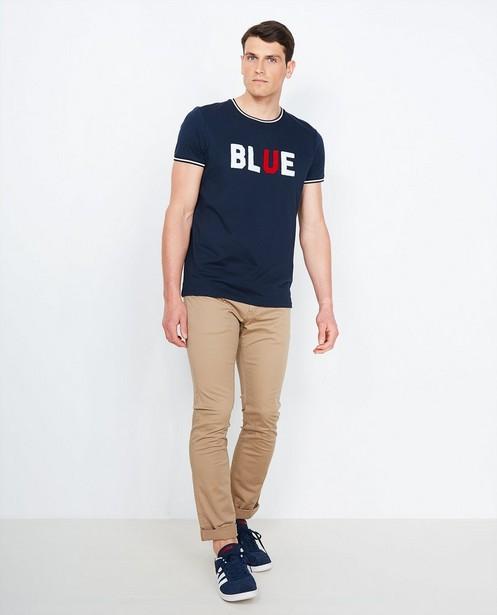 Broeken - BLD - Beige slim fit broek