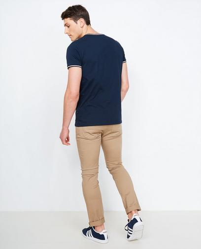 Beige slim fit broek
