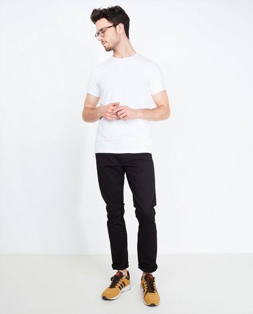 Zwarte katoenen broek - slim fit - Iveo