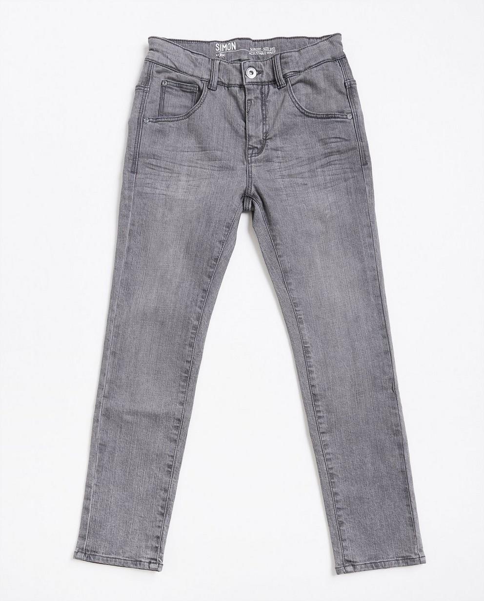 Grijze slim jeans - met een lichte wassing - JBC