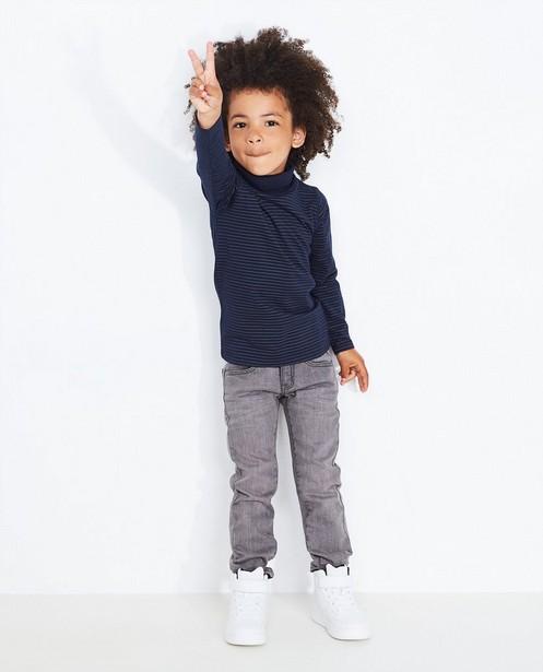 Jeans gris slim - légèrement délavé - JBC