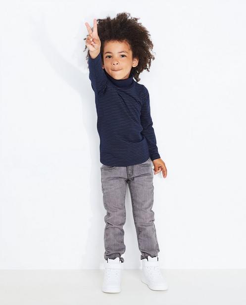 Grijze slim jeans - met een lichte wassing - JBC NL