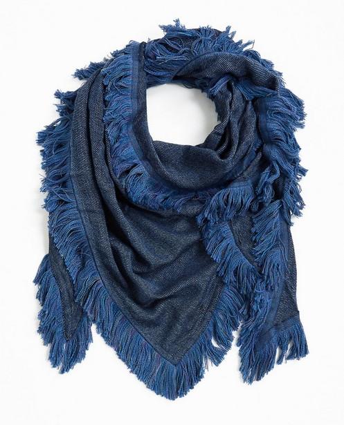 b09165834dc Blauwe driehoekige sjaal