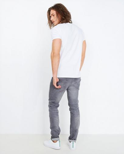 Grijze slim fit jeans