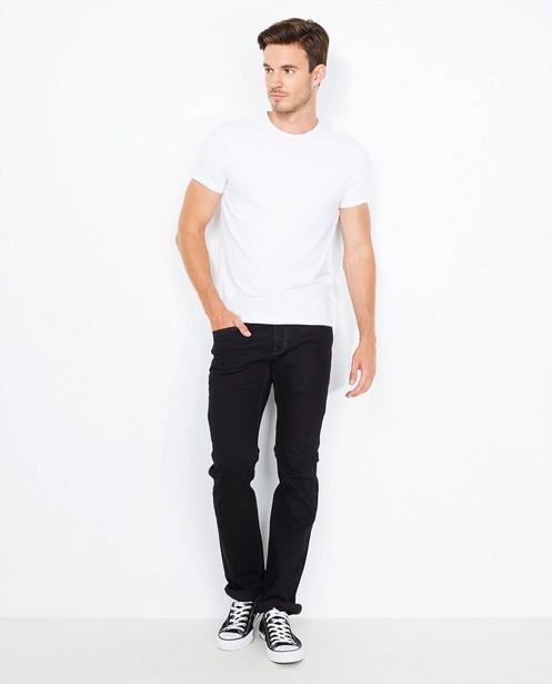 Jeans noir en coton bio - fitted straight - Tim Moore