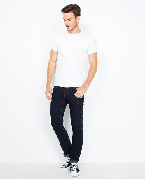 Jeans bleu en coton bio - fitted straight - Tim Moore