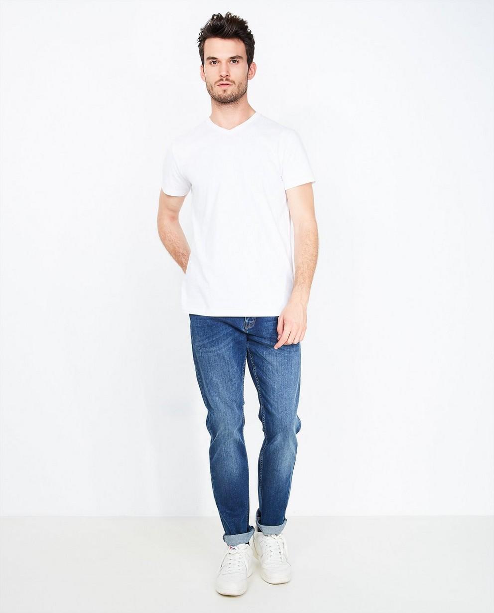 Jeans bleu en coton bio - regular fit - Tim Moore