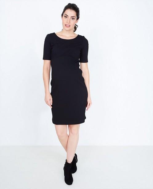 Zwarte jurk met korte mouwen - null - Joli Ronde