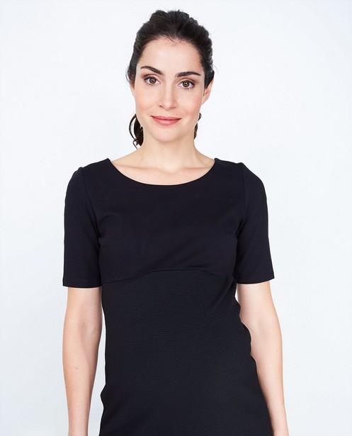 Kleedjes - Zwarte jurk met korte mouwen