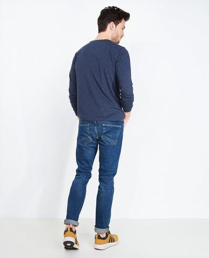 Donkerblauwe slim fit jeans