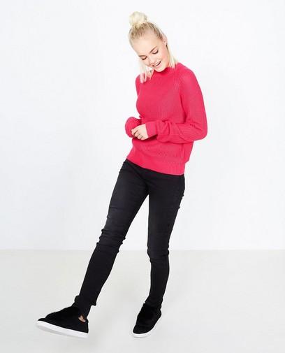 Zwarte trui met rits op de rug