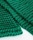 Groene grofgebreide sjaal Youh!