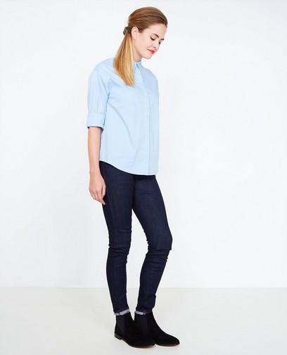 Blauwe jeans met pailletten