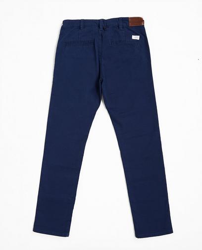 Marineblauwe katoenen broek