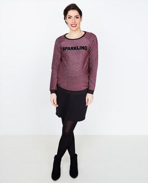 Roze Glitter Trui.Sweater Met Opschrift En Roze Metaaldraad Joli Ronde Jbc Belgie
