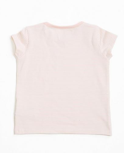 Rosa gestreiftes T-Shirt