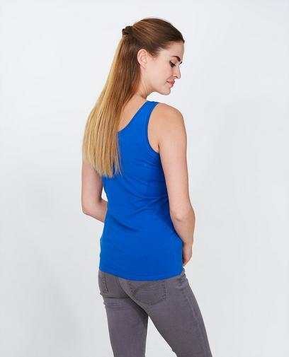 Basic blauwe top