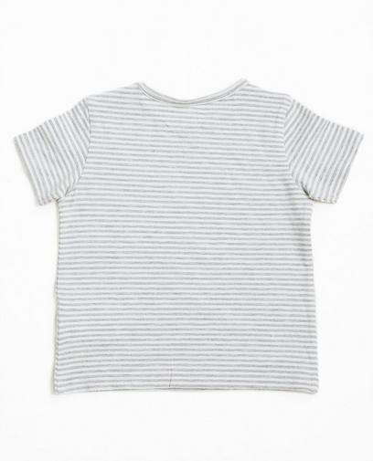 T-shirt rayé gris