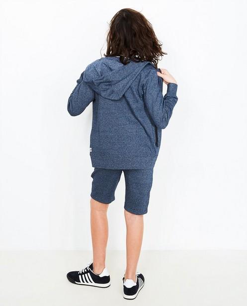 Short de sport molletonné - bleu-gris chiné - JBC