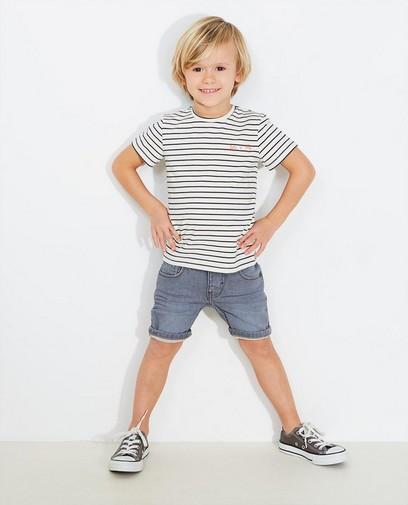 Graue Jeans-Shorts
