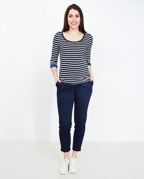 Pantalon molletonné bleu - taille à paillettes - Joli Ronde