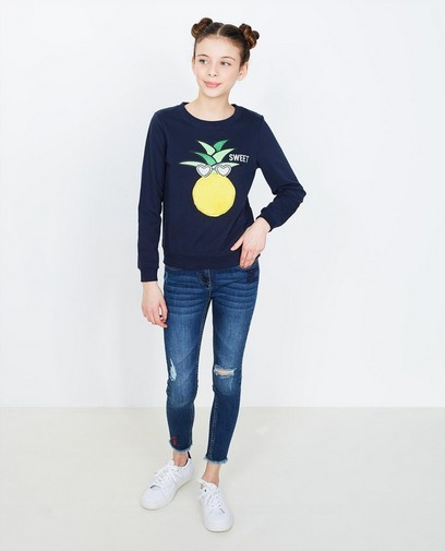 Nachtblauer Sweater