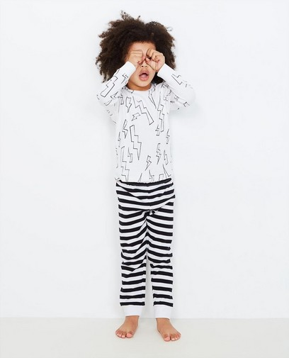 Zwart-witte pyjama