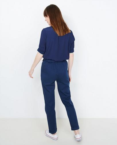Nachtblauwe blouse