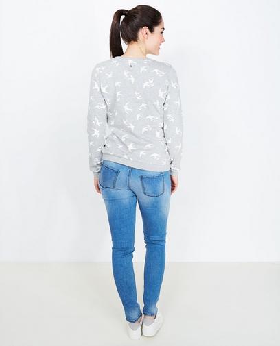 Lichtgrijze sweater