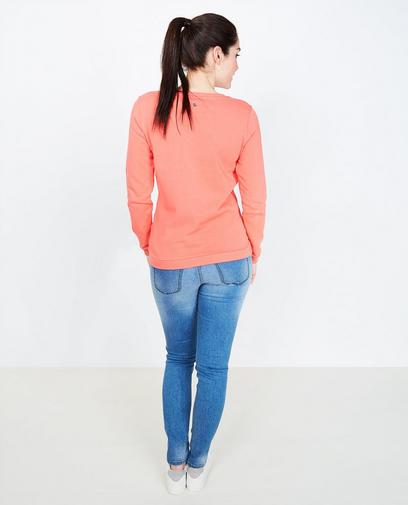 Sweat rouge corail