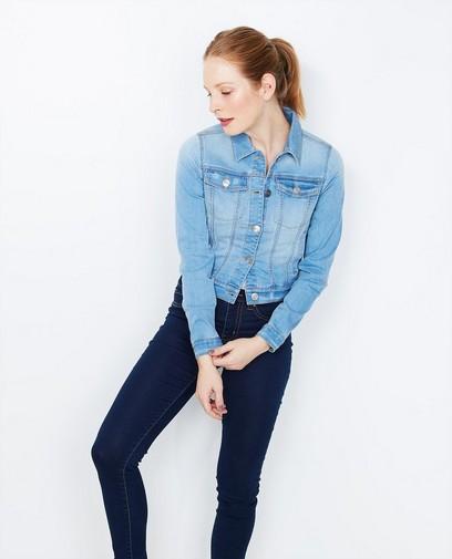 Veste en jeans bleu ciel