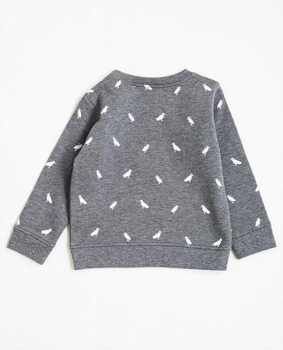 Sweater met vogelprint