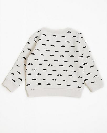 Sweater met snorrenprint