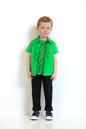 Grasgrünes Hemd