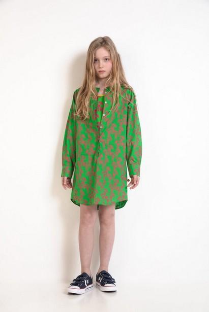 Grasgrünes Hemdkleid - ZulupaPUWA – Unisex - ZulupaPUWA